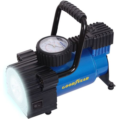 Compressor Goodyear GY-30L LED 30 L/min with фонарём, with removable handle, storage bag (GY000103) straw bucket bag with ring handle
