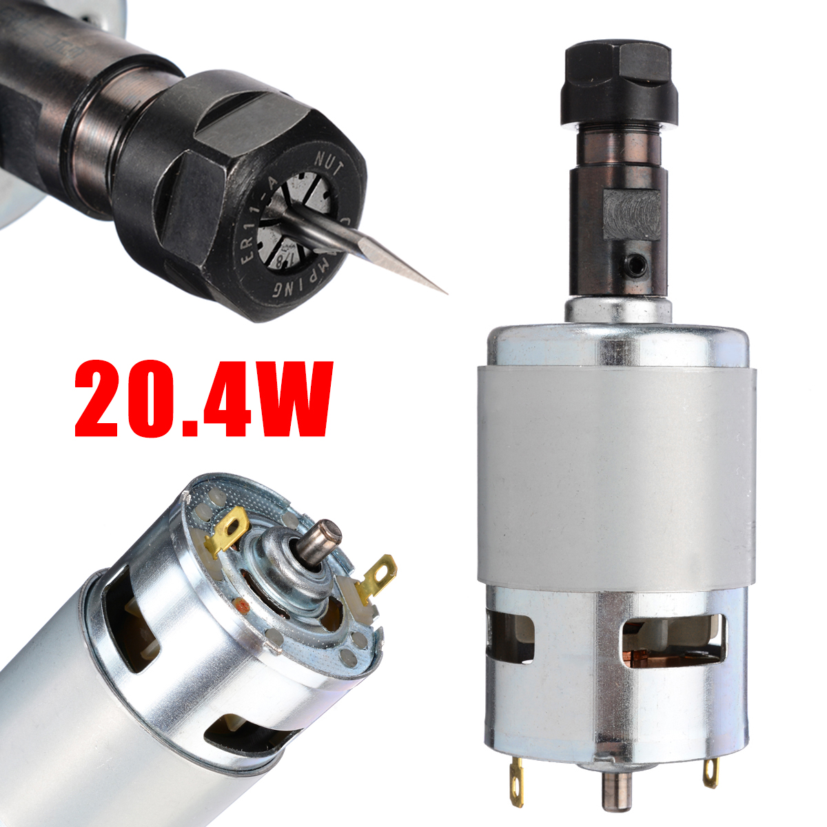 775 DC Motor 12-36V with ER11 Spindle Replacement Part for CNC Router Machine Router Machine Motor Engraving Machine Motor775 DC Motor 12-36V with ER11 Spindle Replacement Part for CNC Router Machine Router Machine Motor Engraving Machine Motor