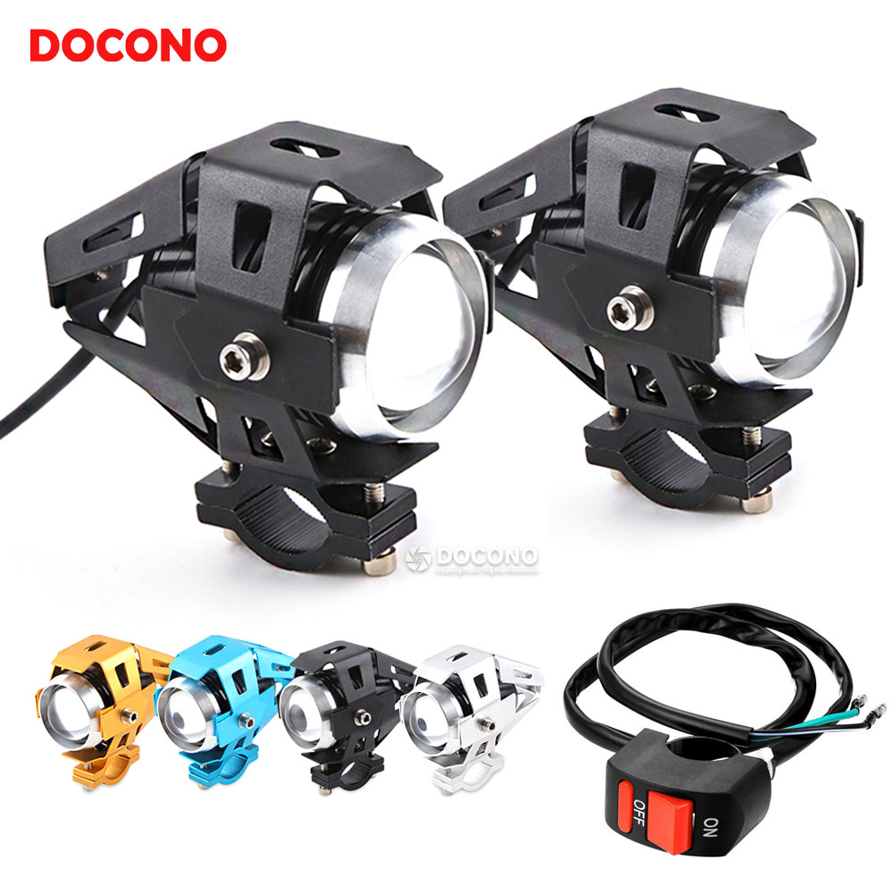 2PCS Motorcycle <font><b>LED</b></font> <font><b>Headlight</b></font> 12V 3 Modes Universal For KAWASAKI <font><b>ninja</b></font> <font><b>300</b></font> <font><b>ninja</b></font> h2 versys 1000 For SUZUKI sv 1000 gsr 250s etc. image