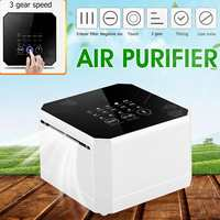 Warmtoo 110 240V Negative Ion Generator Air Purifier For Home Office Use 3 Layers Filter Desktop Mini 3Gear Air Purifier Cleaner