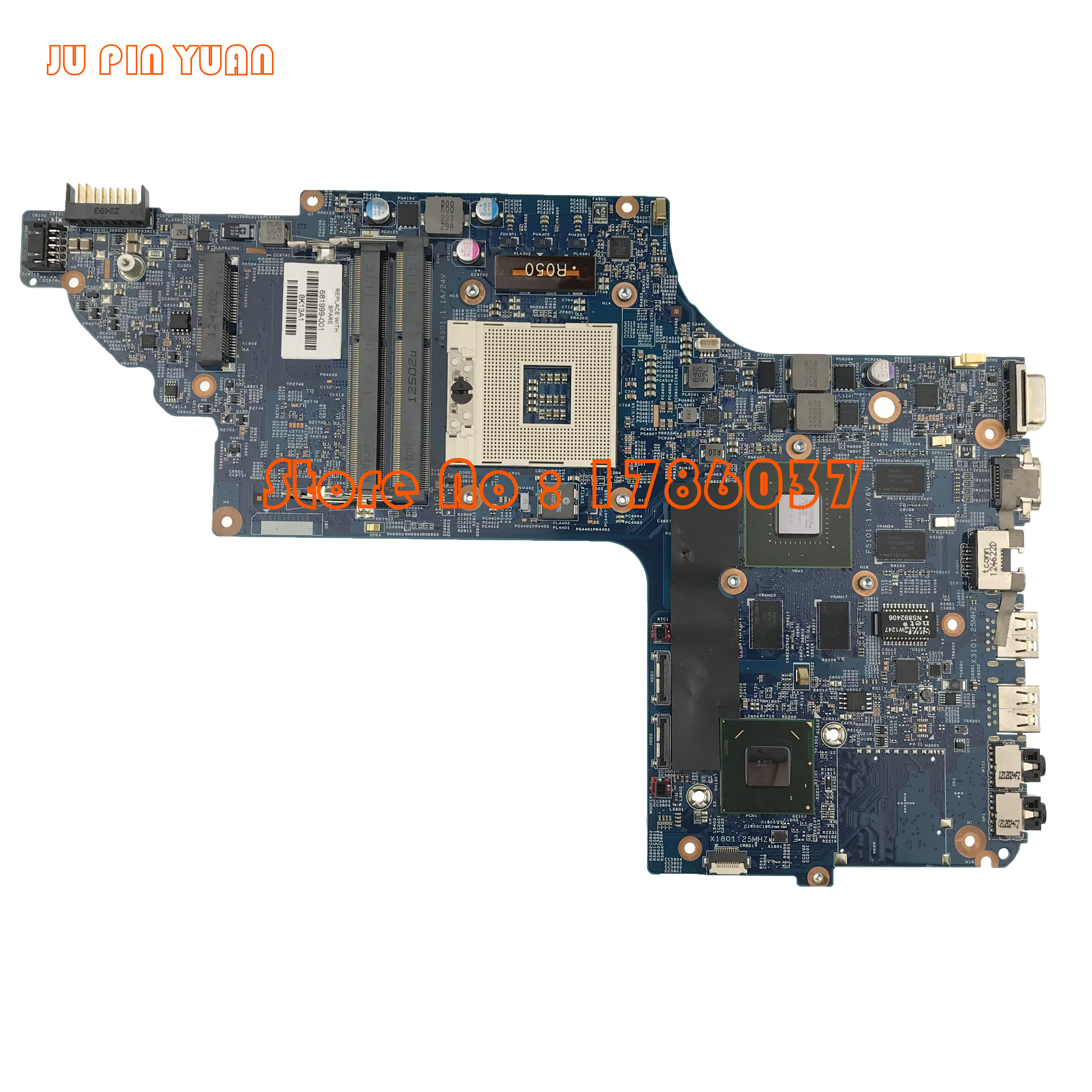 JU PIN YUAN 681999-501 681999-001 for HP Pavilion DV6  DV6T DV6-7000 series motherboard All functions fully TestedJU PIN YUAN 681999-501 681999-001 for HP Pavilion DV6  DV6T DV6-7000 series motherboard All functions fully Tested