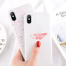 USLION Luminous Silicon Case For iPhone 7 6 6s 8 Plus X XR XS MAX XS Cartoon Love Heart Stars Phone Cases Soft TPU Cover Coque