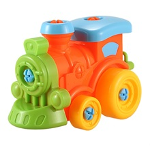 Construction Toys Take Apart Toys Assembly Train Take-apart Puzzle Toys for Children 3 Year Old Boys (Train)