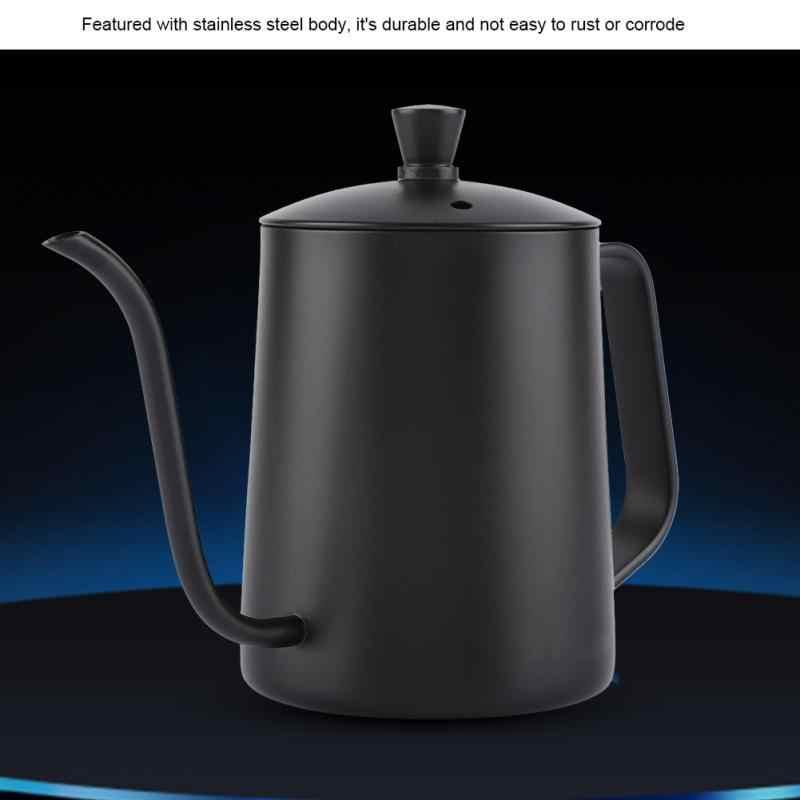 550 мл Нержавеющаясталь Гусенек кофейник чайник с крышкой для дома чайник залить Кофе и Чай горшок