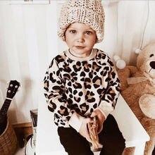 Детская футболка с леопардовым принтом и принтом кролика для маленьких мальчиков и девочек, толстовки, одежда