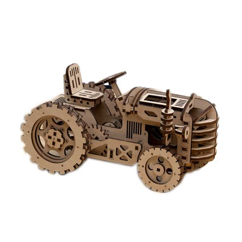 Robotime Uap DIY Kayu Robot Mainan Kereta Uap Pesawat Traktor Tarik Peta Mainan Pendidikan Hadiah Terbaik untuk Anak Anda