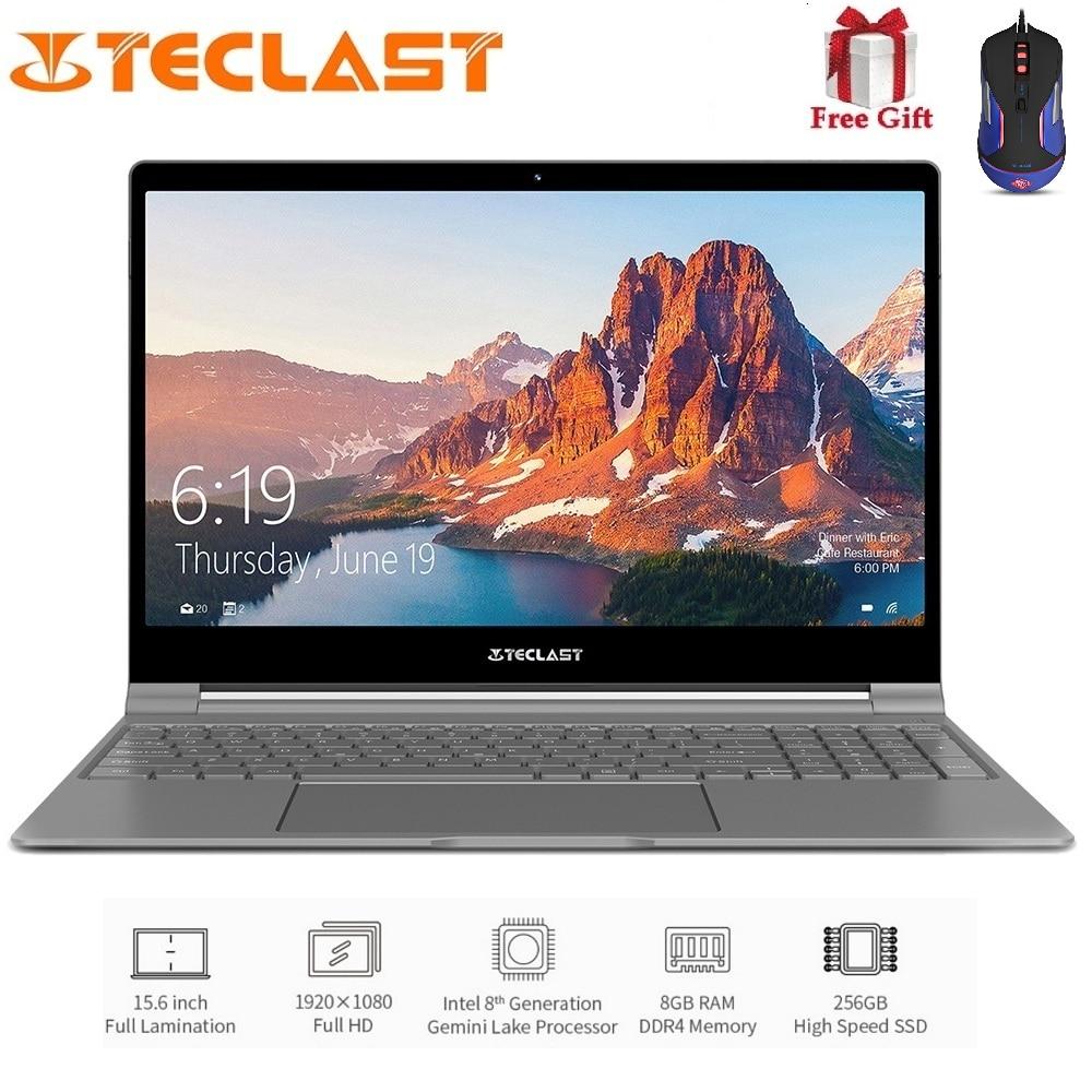 Teclast F15 Notebook 15.6 inch 1920 x 1080 IPS Windows 10 Intel N4100 Quad Core 1.1GHz 8GB RAM 256GB SSD HDMI 6000mAh Laptop