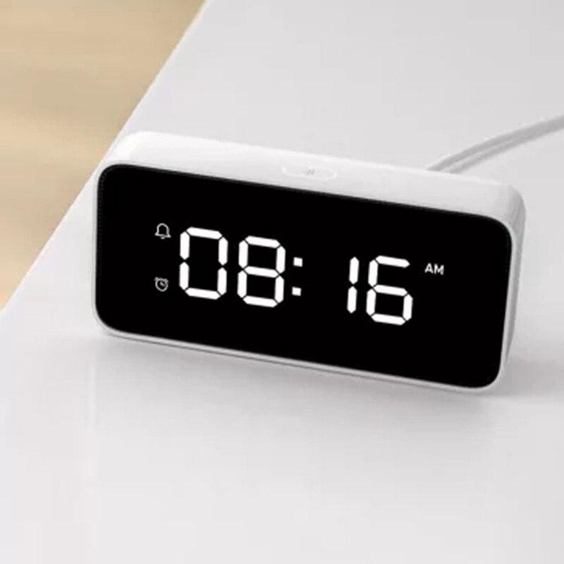 2018 nouveau réveil de diffusion vocale intelligente Abs Table Dersktop horloges travail d'étalonnage du temps avec Mi Home App