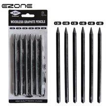 EZONE 6 шт. эскизные ручки 2B/4B/6B/8B/2 H/HB Безлесные Угольные карандаши для набросок рисунок искусство студентов живопись карандаш канцелярские принадлежности