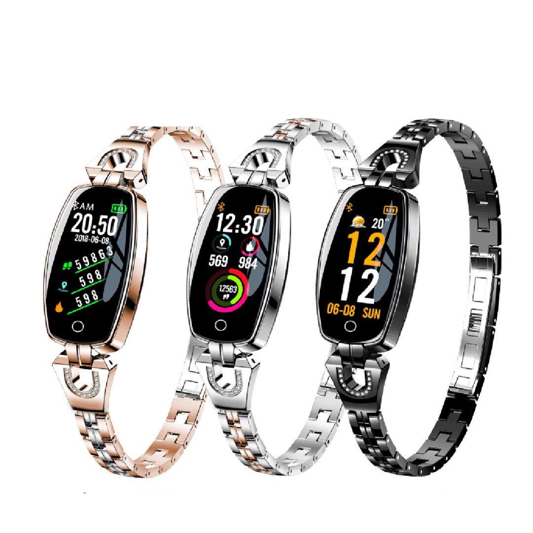 Multifunctional Outdoor Sport Ladies Waterproof  Pedometer Band Smart Bracelet Heart Rate Sleep Monitor Blood Pressure