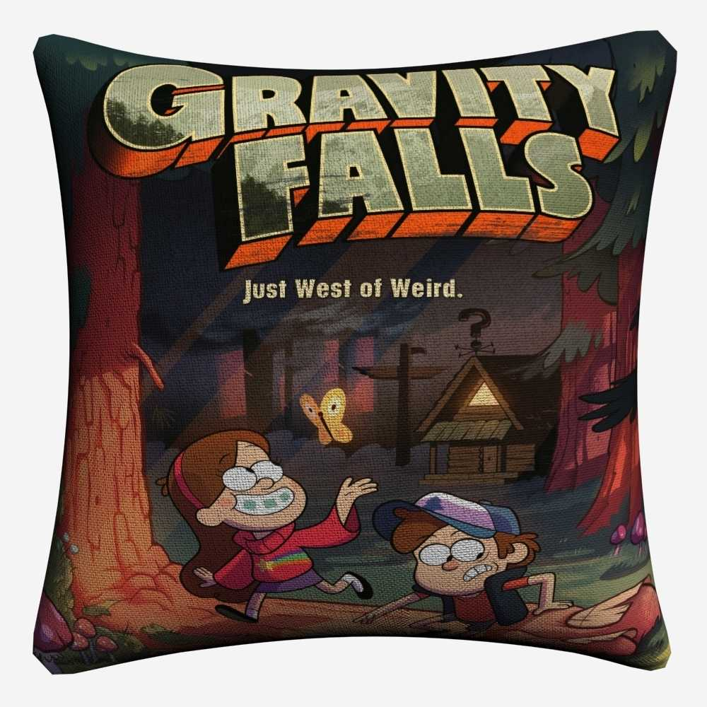 Gravity Falls Cartoon TV Plays Decorative Cotton Linen Cushion Cover 45x45cm For Sofa Chair Pillow Case Home Decor Almofada