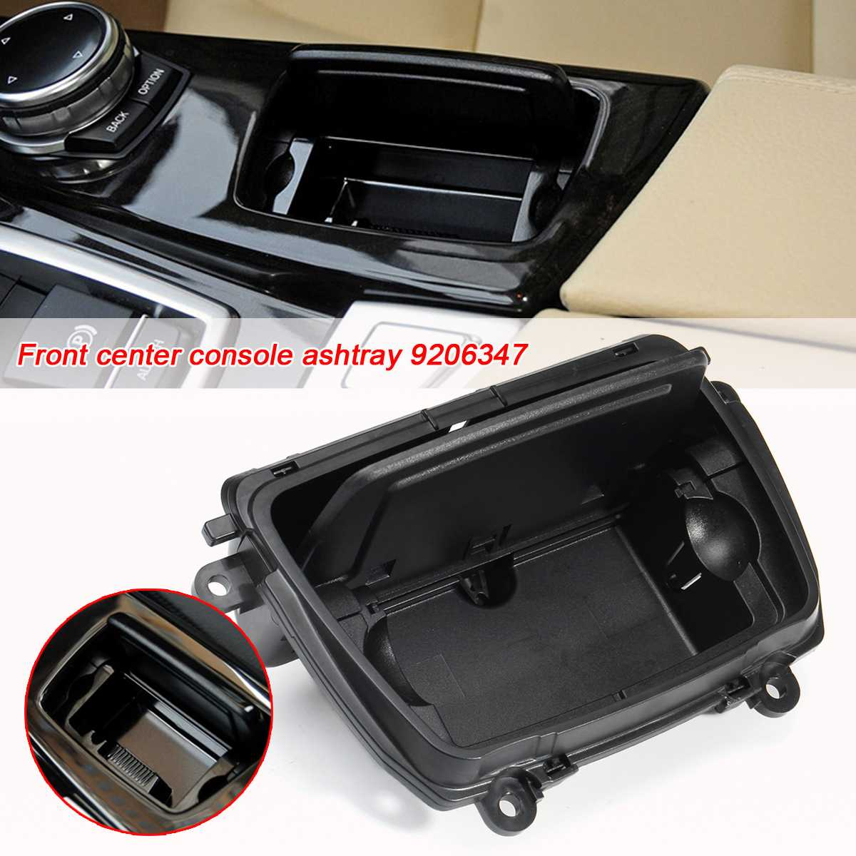 Automobile Ashtrays Car Center Console Ashtray F10 Assembly Ash Box Cover For BMW 5 Series F10 F11 F18 Ashtray 520 51169206347
