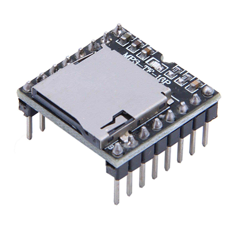 Mp3-player 100% Wahr Jabs Dfplayer Mini Mp3 Player Modul Für Arduino Schwarz
