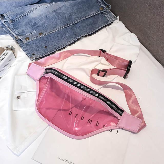 Новая модная женская сумка на пояс 2019, высококачественная прозрачная пвх-молния, женская сумка для девушек, банановые Сумки на талии