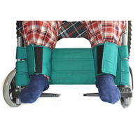Adjustable Cotton Cloth Wheelchair Leg Strap Seat Belt for Disabled Patients (Green)