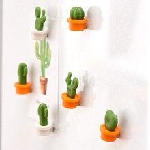Fashion Cute Mini 6pcs/Set Refrigerator Message Sticker Succulent Plant Creative Fridge Cactus Magnets