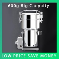 600G Chinese Medicine Grinder Protable Household Electric flour Mill Powder Machine,850W/220V Small Food Grinder