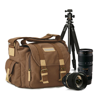 Camera Shoulder Bags DSLR Canvas Camera Backpack Outdoor Photo Video Travel Camera Protective Cases for Canon Nikon Sony Pentax