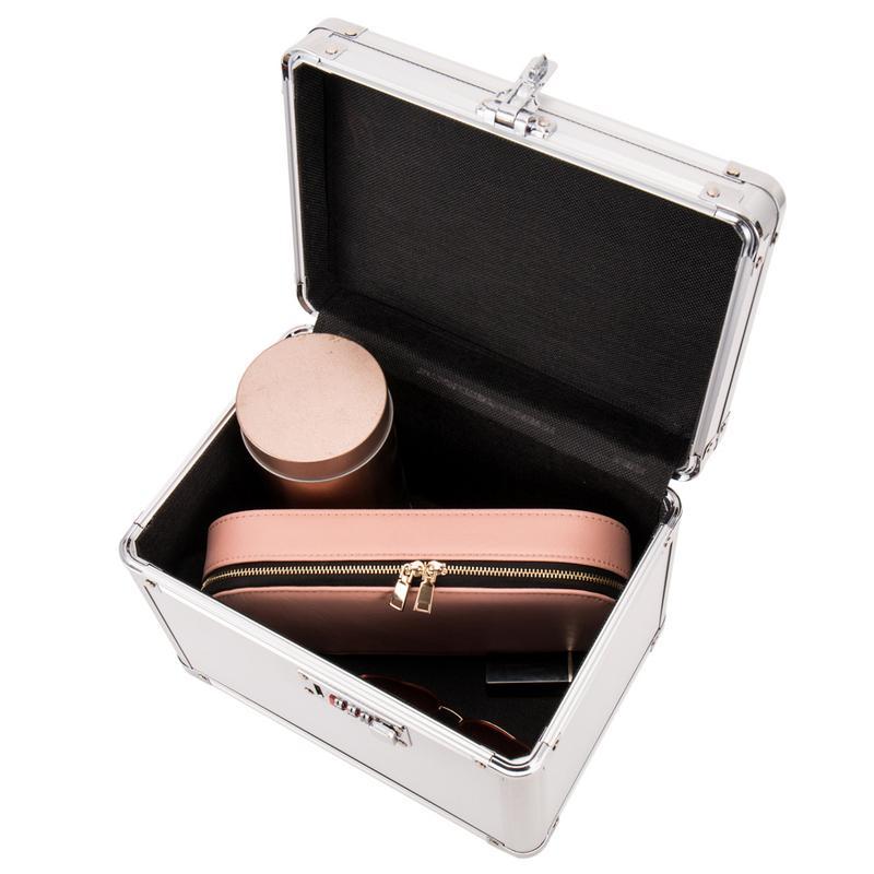 Boîte de rangement de passeport en métal boîte de rangement sûre de haute qualité organisateur cosmétique bijoux organisateur décoration de bureau de ménage - 2