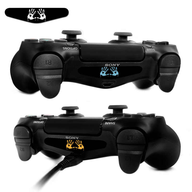 Aoxo Permainan Kustom Light Bar Stiker Vinyl Decal Lightbar LED Film untuk Sony PS4 PlayStation 4 DualShock 4 Controller 2 buah