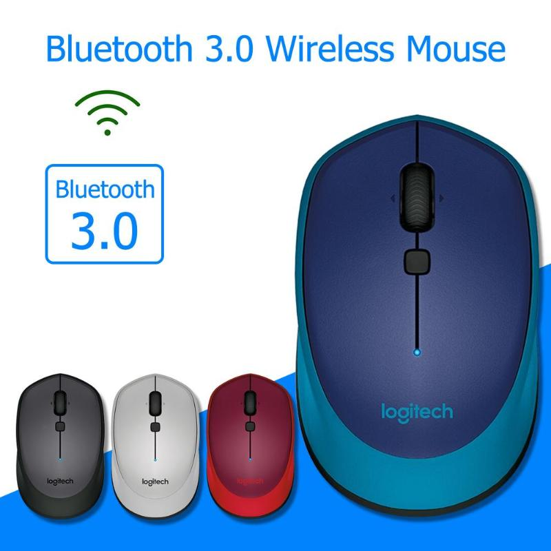 Logitech M336 Bluetooth 3.0 Wireless Mouse Laptop Mice Curved Shape With Rubber Grip Compact Mobile Design For Windows 7/8/10