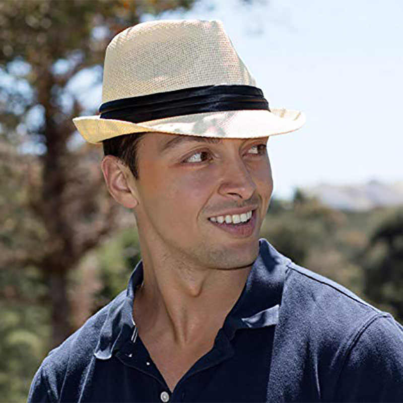 Men Fedoras Hat Male Cotton Linen Blend Jazz Hats Elegant For Women Black  Hats Caps|Men's Fedoras| - AliExpress