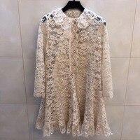 Весенние шелковые белые платья для женщин 2019 высококачественное платье офисный женский Вечеринка зимнее платье до колена