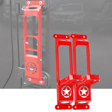 Red Car Door Hinge Side Foot Pedal Step 2pcs For Jeep Wrangler JL 2018-2019
