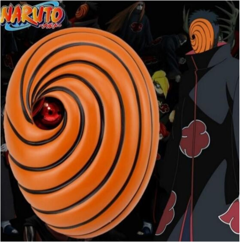 Halloween Cosplay Japan Naruto Cartoons Mask Tobi Obito Naruto Akatsuki Ninja Madara Uchiha Resin Mask