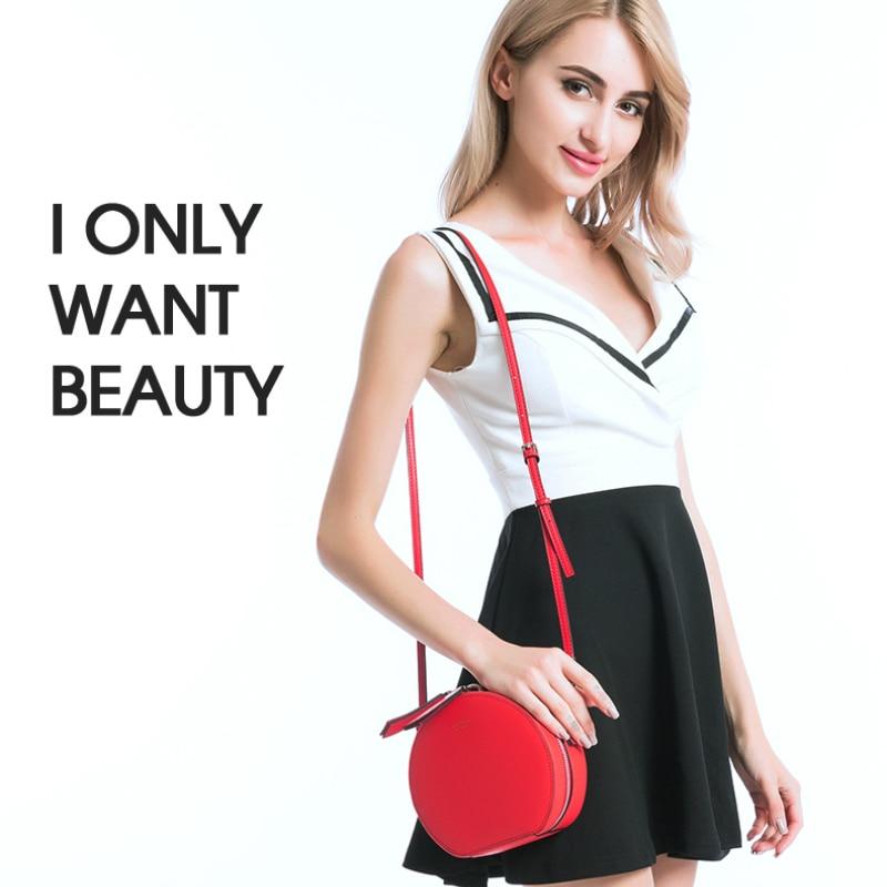 Известный дизайнер, Сумки из натуральной кожи, круглая сумка для женщин, маленькие сумки через плечо для девушек, вечерние клатчи, Bolsa Feminina - 6