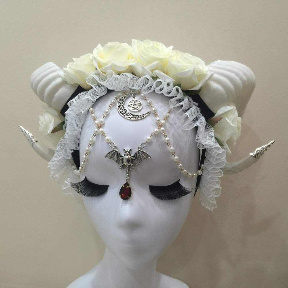 Detail Feedback Questions About Halloween Horns Cosplay Flower Horn
