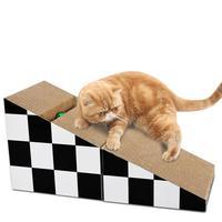 Pet Cat Scratch Board Black And White Cube Cat Scratch Board Bed Paper Grinding Claw Board Claw Care Cat Closed Space Toy 2019