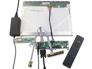 Image 4 - TV HDMI AV VGA USB TV56 LCD LED sürücü Kontrol kurulu kiti Kart DIY LTN160AT01 Için 1366X768 Paneli ekran