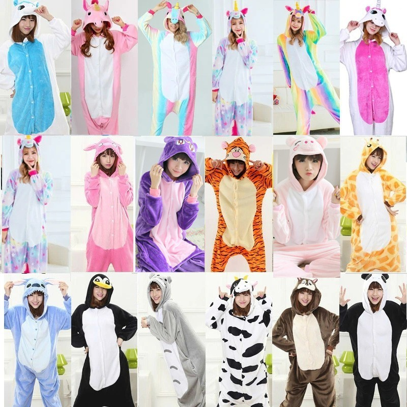 pijama de unicornio onesies for adults Fleece Adult Onesie kigurumi   Pajamas   Kigurumi Onesie Couple   Pajama     Sets   Warm plus size