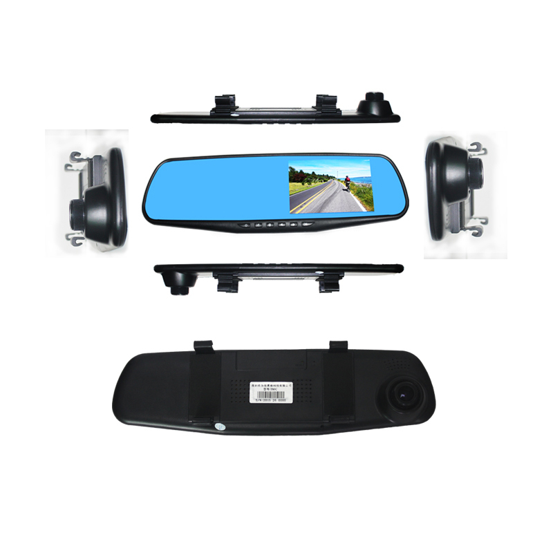 Driving-Recorder Car-Rearview-Mirror Anti-Glare 1080P HD Blue-Screen