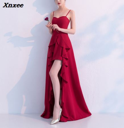 2018 Boat Neck Royal Blue Xnxee Women 39 s Off Shoulder Long Dresses High Low Formal Gowns Xnxee in Dresses from Women 39 s Clothing