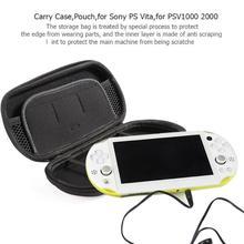 142f4ca259bab Schwarz Fest Lagerung Fall Schutzhülle Durchführung Abdeckung Tasche Tasche  Organizer für Sony PS Vita PSV 1000 2000 Spiel Zubeh.