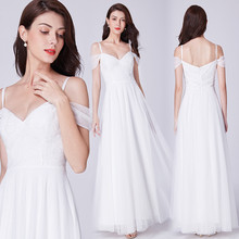 Boho Wedding Dress Ever Pretty Robe Mariee Dentelle Elegant A Line V Neck Off The Shoulder Bridal Gowns 2019 Vestidos De Novias