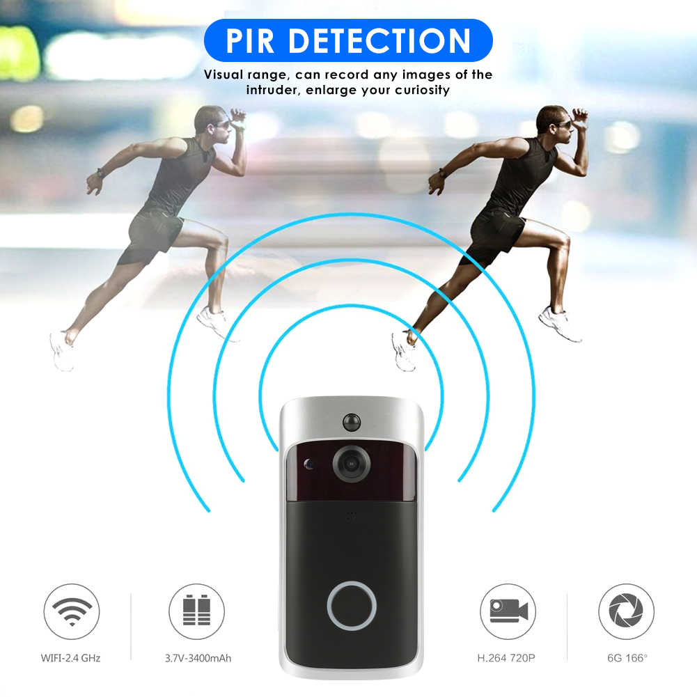 720 P HD беспроводной wifi-звонок батарея дверная камера двухсторонняя аудио домофон телефон звонок ИК-сигнализация камера безопасности для дома квартиры