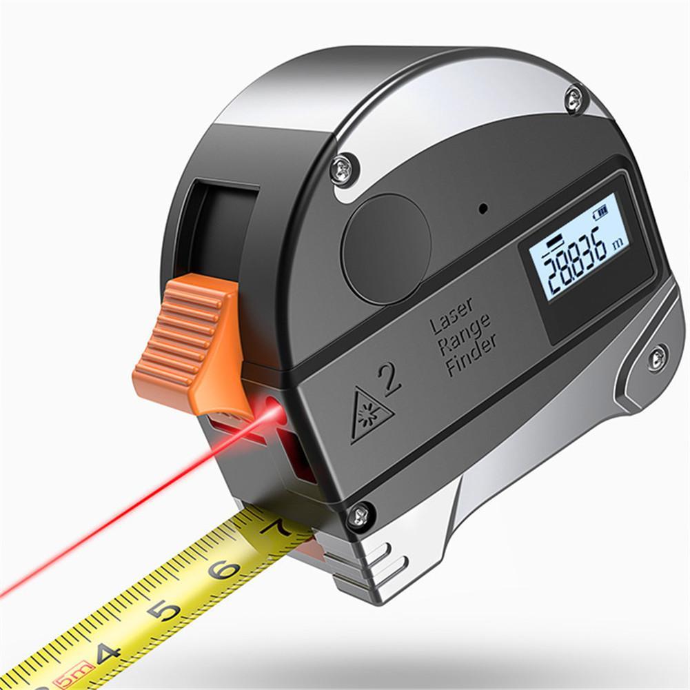Infrared Finder Portable High Precision Steel Tape Measuring Instrument 5+30M Laser Range Finder Laser Level Construction Tools