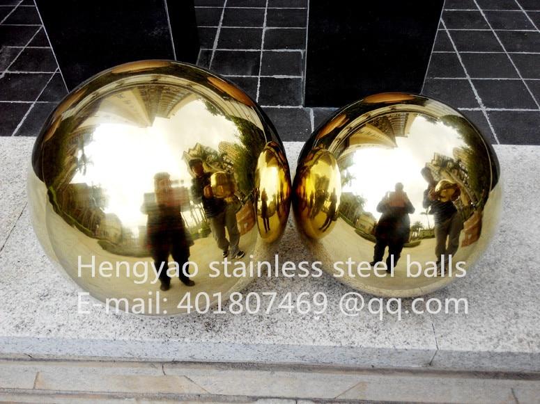 Qızıl top Dia 150mm 15cm paslanmayan polad titan nömrəli qızıl - Ev dekoru - Fotoqrafiya 4