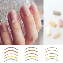 1pc gold 3D nail sticker curve stripe lines nail stickers adhesive stripe band Nail Art stickers stickers Rose gold silver direct continental carved three dimensional nail stickers nail sticker nail art stickers 3d nail stickers xf713