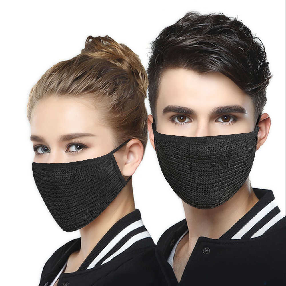 Wholesale Black Cotton Anti-dust Facemask Cycling Wearing Flue Face Mouth Mask Unisex Mouth Muffle Respirator Winter Face Mask