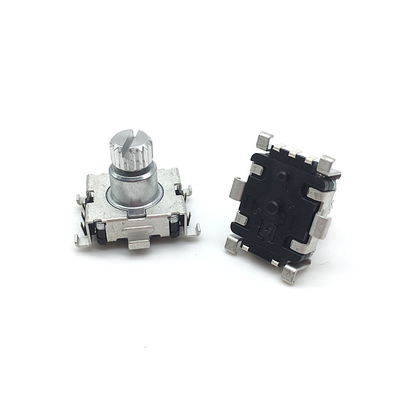 Wholesale 50pcs lot EC11 Rotary Encoder Code Switch 30 Position With Push Button Switch SMD 5pin