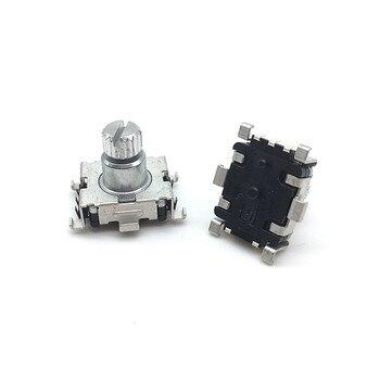 Venta al por mayor 50 unids/lote EC11 interruptor de código codificador giratorio 30 posiciones con interruptor de botón SMD 5pin longitud de la manija 9,5mm eje de ciruela