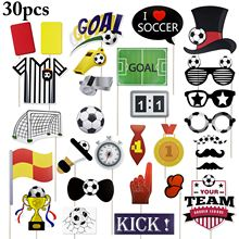 30PCS Photo Booth Props Decorative Stylish Party Favors for Soccer Event