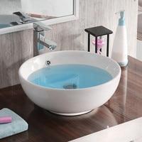 Large Basin Sink Vanity Bathroom Bowl Counter top Ceramic Vessel Cloakroom