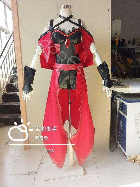 Brume douce Cosplay l'avatar du roi Costume Tang Rou bataille Mage Quan Zhi Gao Shou Costume femmes