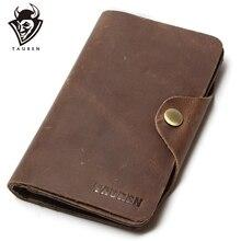 Long Travel Wallet For Men Real Crazy Horse Leather Purse Card Holder Hot Selling Free Ship Mens Vintage Wallets