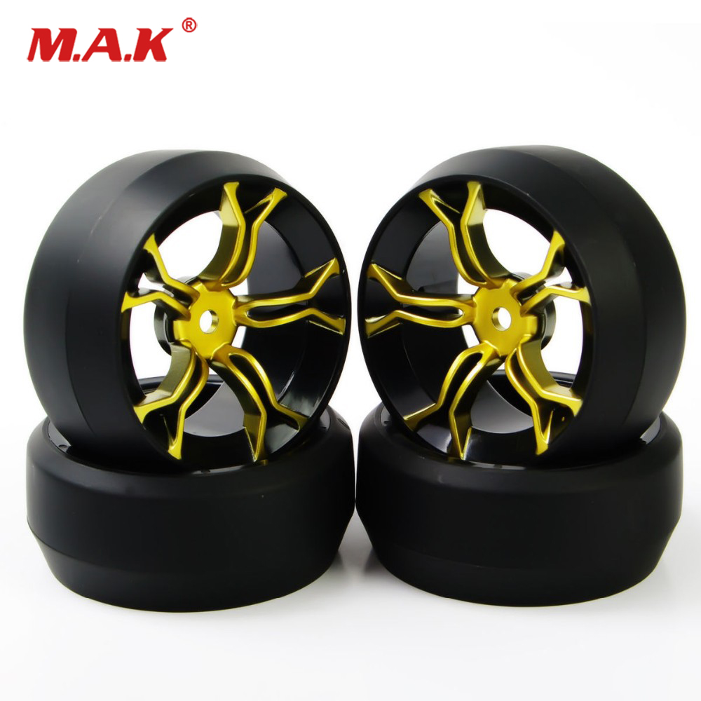 4PCS/Set <font><b>1/10</b></font> <font><b>RC</b></font> Car Hard Speed <font><b>Drift</b></font> 0 Degree Tires Tyre <font><b>Wheel</b></font> Rims Accessory For HPI Car Model Parts MPNKG+PP0369 image
